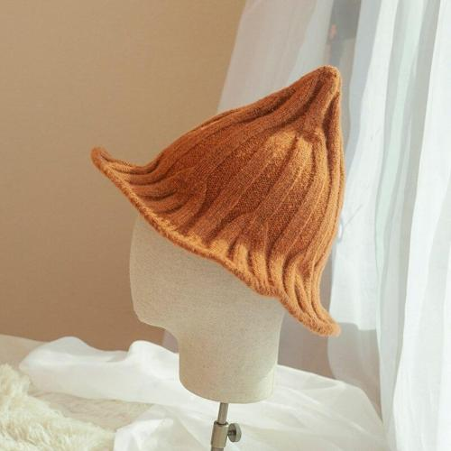 Wizard Hat Autumn Winter Plush Folding Halloween Hat