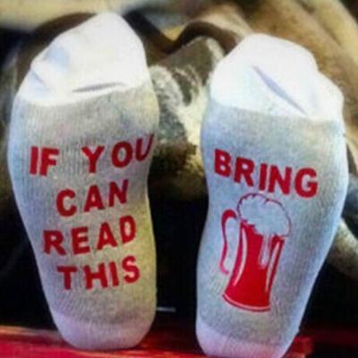 Letter Cotton-Blend Socks