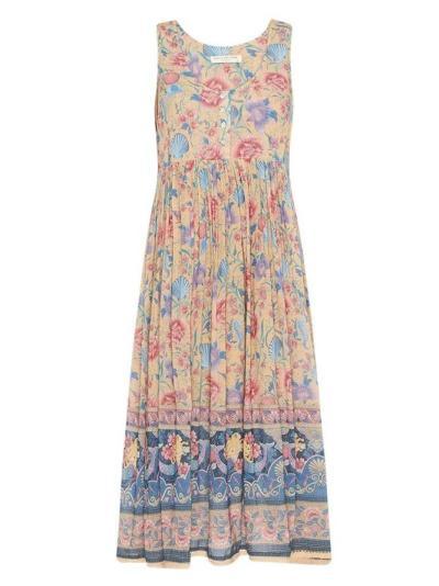 V Neck Women Dresses Swing Daytime Printed Floral Dresses