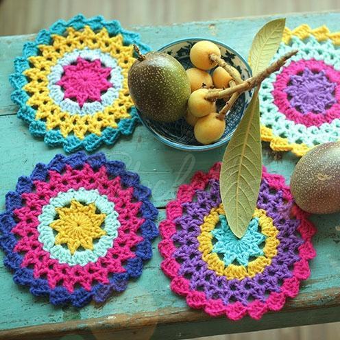 Sunflower Hand Crochet Insulation Mat