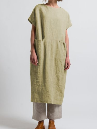 Oversized Scoop Neck Style Dress Tunic