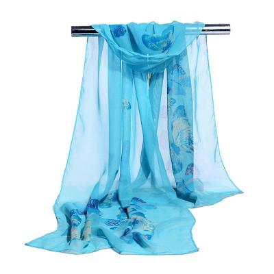 Scarves Women 2018 Summer High Quality Silk Scarf Chiffon Shawl Long Scaves for Ladies Thin Printed Feminine Beach Cape Stole