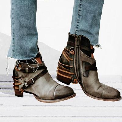 Women Vintage Booties Casual Comfort Plus Size Shoes