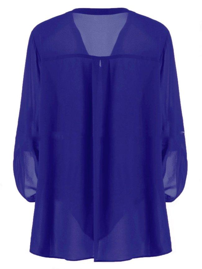 Casual 3/4 Sleeve Linen Shirts & Tops