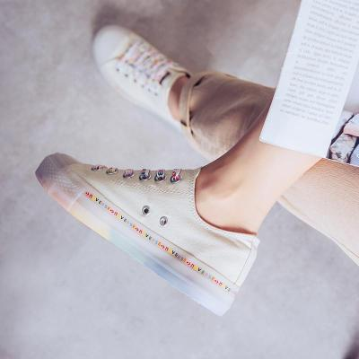 Women's Fashion Simple Wild Color Letter Sneakers