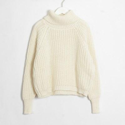 2020 Autumn and Winter New Women's Casual Two-Lapel Solid Color Sweaters Top sweater women  turtleneck  cute sweater