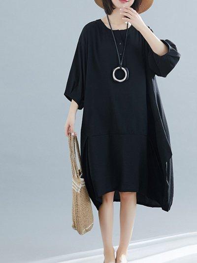 Round Neck Casual Dresses
