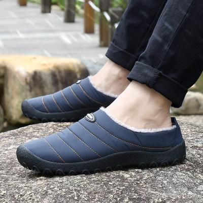 Indoor Outdoor Slippers Fur Lined Winter Waterproof Clog House Shoes