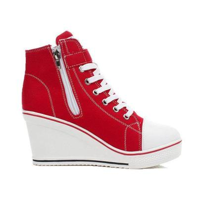 Women Korean Style Canvas Wedge Heel Casual Big Size Shoes