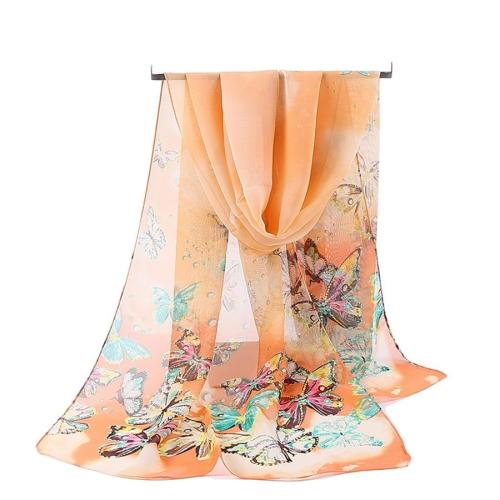 Women Chiffon Scarves Animal Simulation Silk Scarf middle long Shawl Female Spring Summer Literary Print Beach Wrap Wholesale