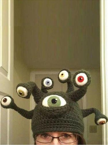 Octopus Eye Hat Creative Halloween Handmade Hat
