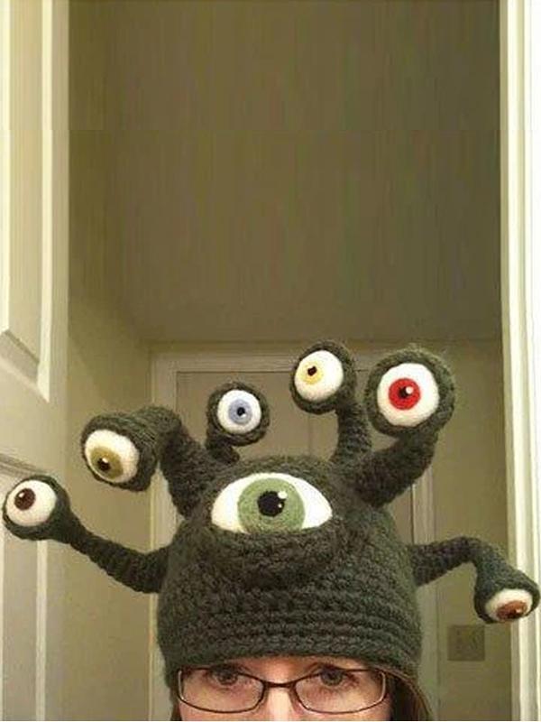 Octopus Eye Hat Creative Halloween Handmade Hat