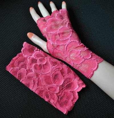 Women's sexy fingerless lace glove female elegant short summer sunscreen driving glove R1904