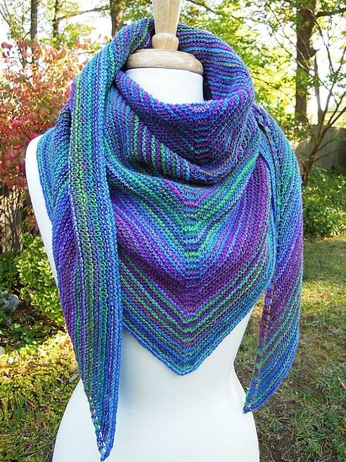 Color-Block Casual Knitted Scarves & Shawls