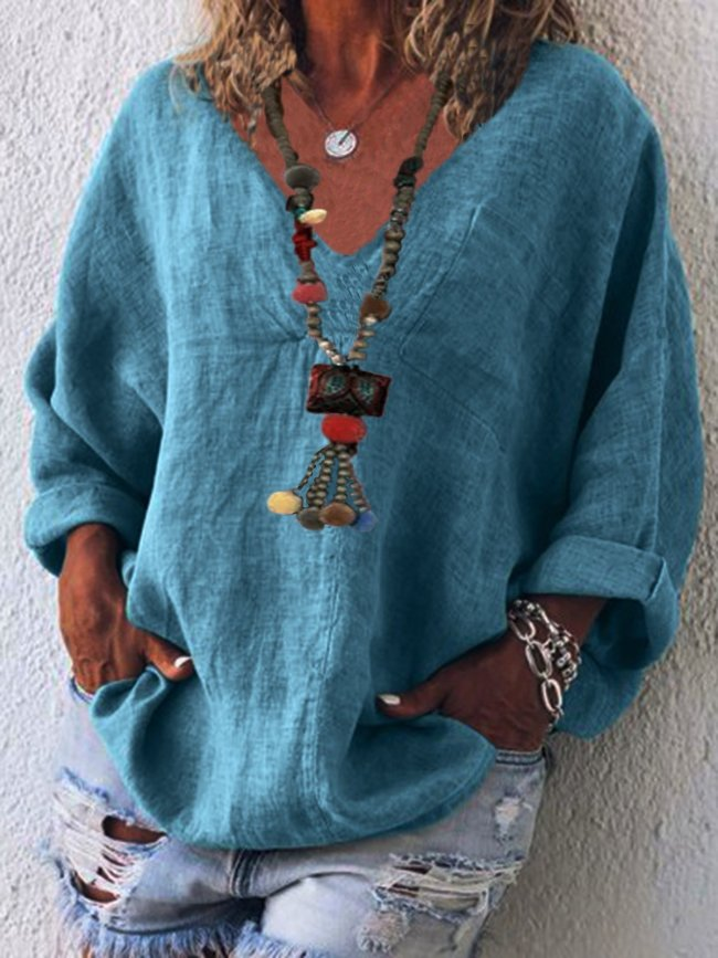 Linen Casual Shirts & Tops