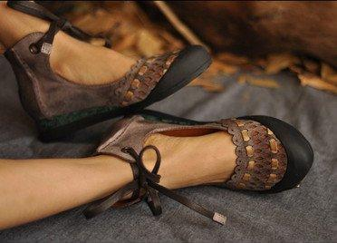 Hollow-Out Flat Heel Suede Loafers