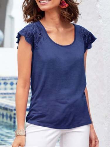 Short Sleeve Round Neck Shirts & Tops