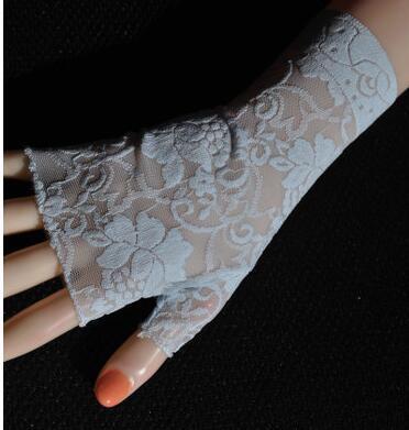 Women's sexy fingerless lace glove female elegant short summer sunscreen driving glove R1897