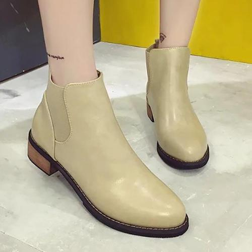 Women Booties Casual Slip On Shoes
