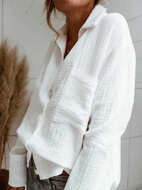 White Linen Holiday Shirts & Tops