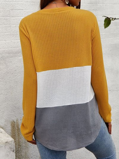 Long Sleeve Knitted Solid Knitted Shirts