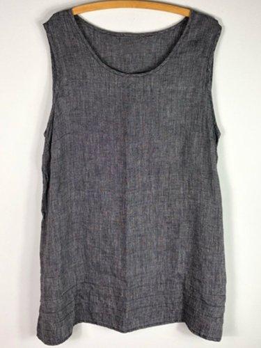 Grey Casual Shift Shirts & Tops