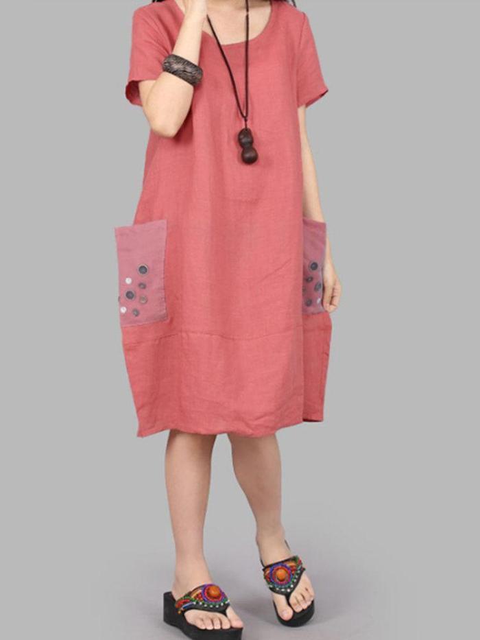Short Sleeve Round Neck Dresses