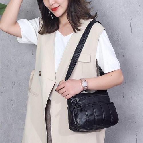 Soft Washed Leather Crossbody Bag