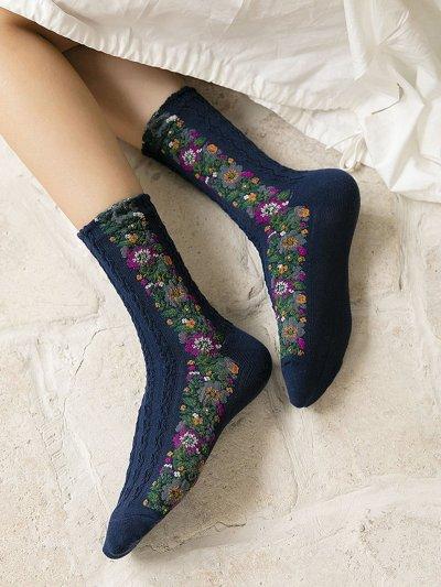 Women's Cute Flower All Season Socks