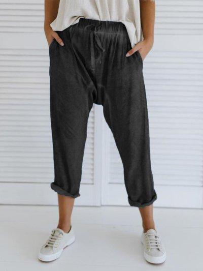 Plus Size Casual Pockets Pants