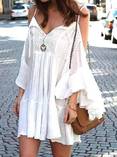 Boho Style Ruffled Holiday Dresses