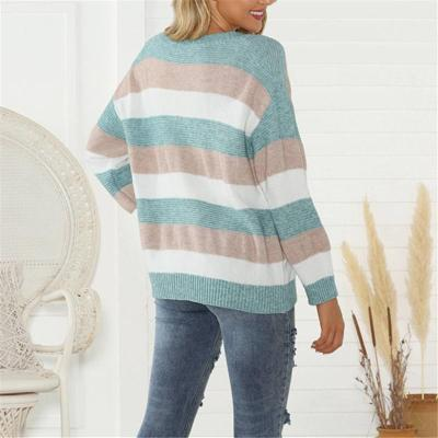 Women's Casual Pullover Round Neck Loose Sweater