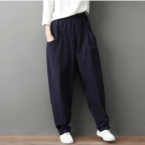 Leisure Pure Color Loose Trousers