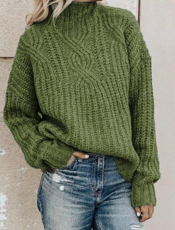 Sweater Women's Turtleneck Twist Knit Top Pullover Women Sweater Winter Clothes Women Winter Clothes Pullover