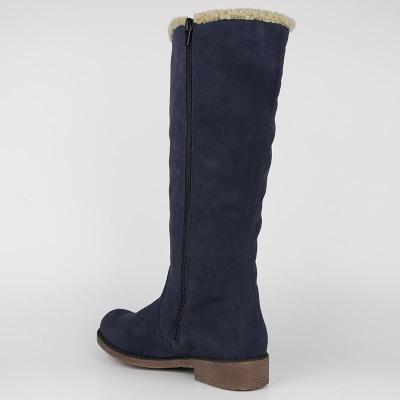Low Heel Snow Boots Artificial Suede Zipper Winter Boots