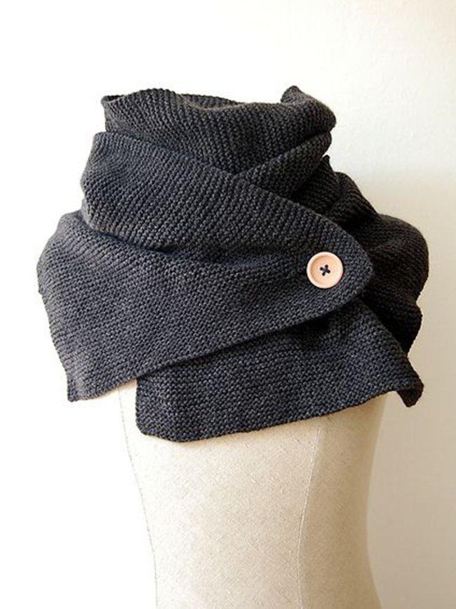 Gray Casual Plain Scarves & Shawls