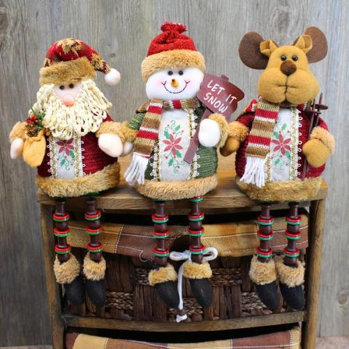 Santa Claus presents a Christmas gift
