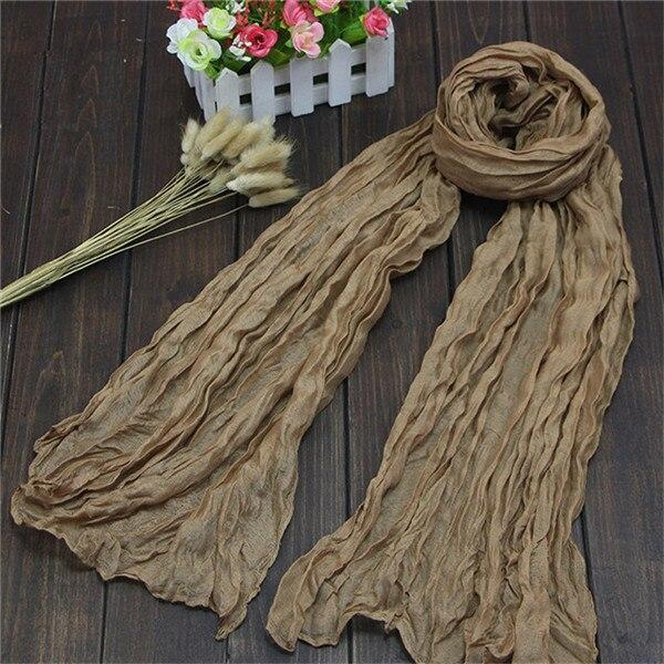 Hot New 1PC Ladies Long Voile Linen Thin Warm Winter Candy Color Shawl Women Scarf Soft