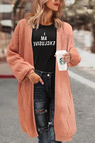 Lantern Sleeve Cardigan Loose Knitted Sweater Coat