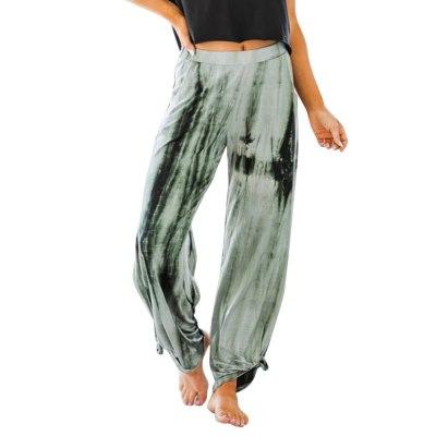 Harajuku Tie Dye Sweatpants Streetwear Women Cool Loose Drawstring Pants High Waist Baggy Pants Joggers Trousers