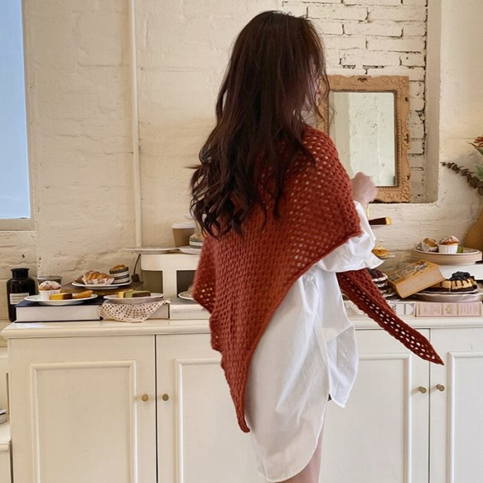 Winter Women Triangle Poncho Scarf Large Solid Knitted Belt Triangular Cape Shrugs Shawl Wraps Pashmina Femme Fular