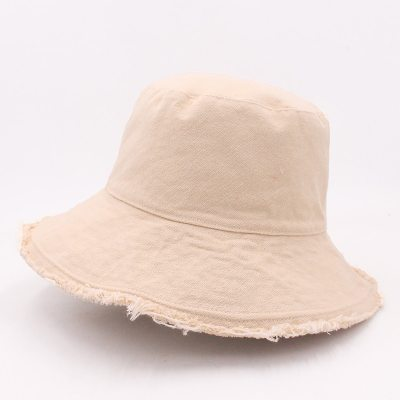 Color Fringed Fisherman's Cap, Soft Aluminum Wire Women's Outing Basin Hat