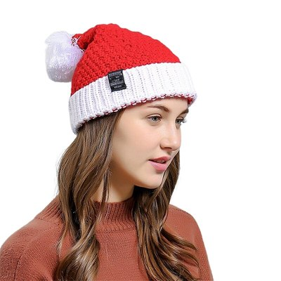 New Women's Solid Color Warm Winter Knit Beanie Hat Crochet Ski Cap