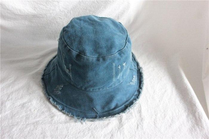 New Denim Fisherman's Hat Bucket Hat Women Panama Warm Windproof Bucket Hat Outdoor