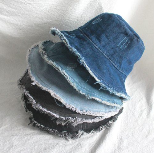 New Denim Fisherman's Hat Bucket Hat Women Panama Warm Windproof Bucket Hat Outdoor