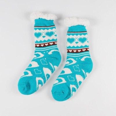 New Arrival Thermal Fleece Winter Slipper Socks Deer Warm Cozy Fuzzy Fleece-lined Knee Highs Winter Sock for Christmas Gift