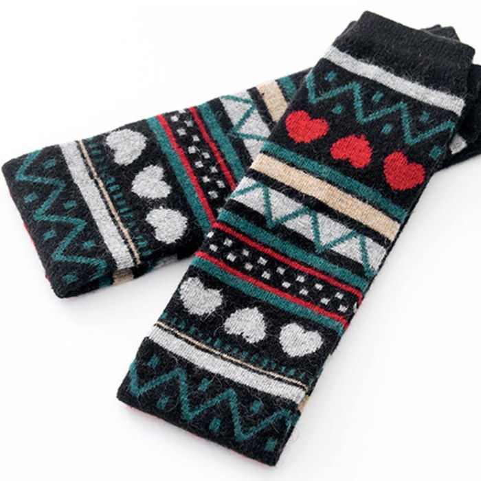Printing Leg Warmers Girls Ladies Women Thigh High Over The Knee Socks Long Solid Stockings