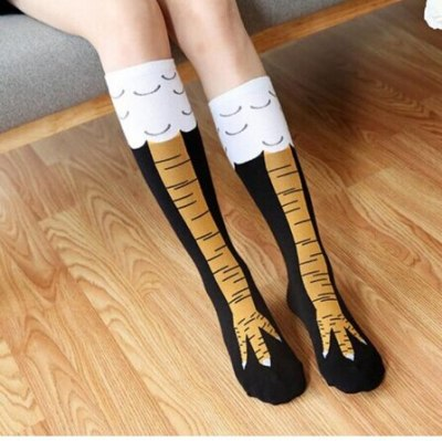 Winter Autumn Women 3D Print Socks Thigh High Sock Fashion Cute Ladies Thin Toe Feet Socks Cosplay