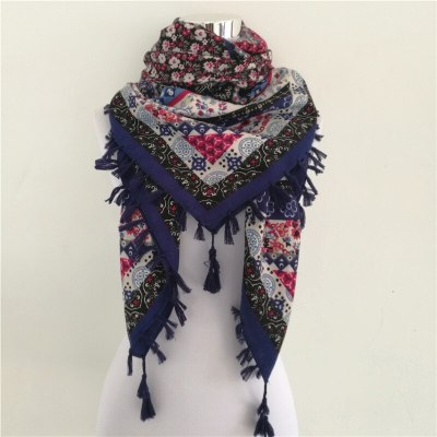 Woman Scarf Square Scarves Printed Women Wraps Winter Autumn Ladies Long Shawl Tassel Scarf