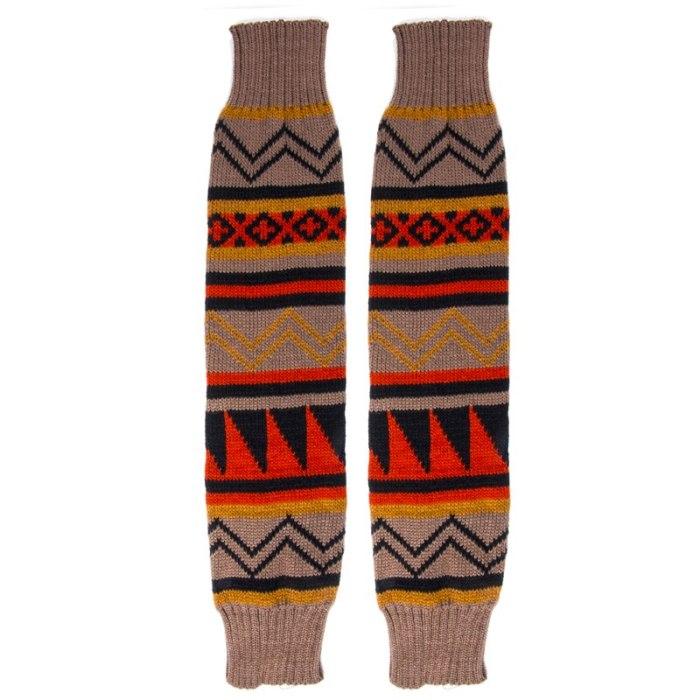 Fashion Leg Warmers Women Warm Knee High Winter Knit Solid Crochet Leg Warmer Socks Christmas
